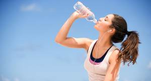 Runners enjoy drinking water